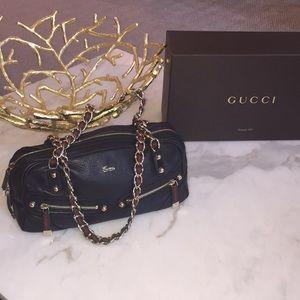 Authentic Gucci - Black Leather Purse